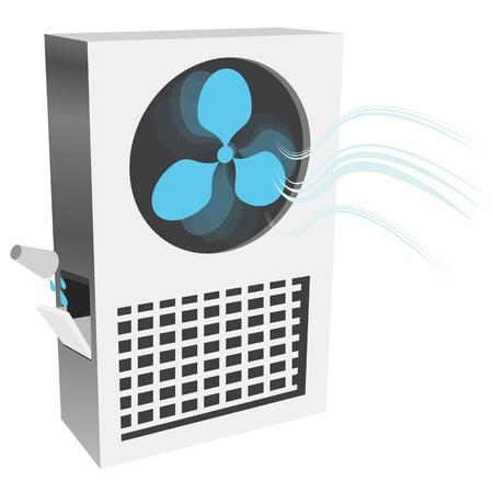 evaporarse: Una imagen de un enfriador de aire por evaporaci�n. Vectores