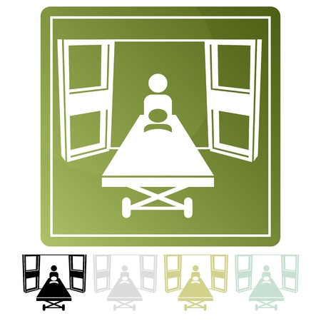 An image of an emegency room icon. Illustration