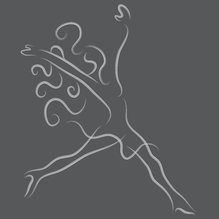 freedom woman: An image of an energetic woman.