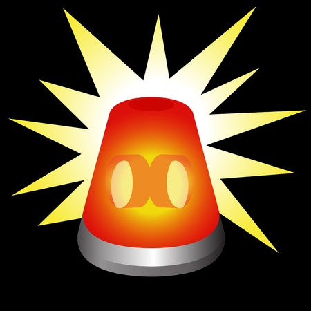 strobe light: An image of a flashing warning light.