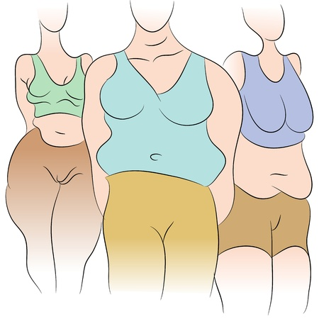 flabby: An image of overweight women.