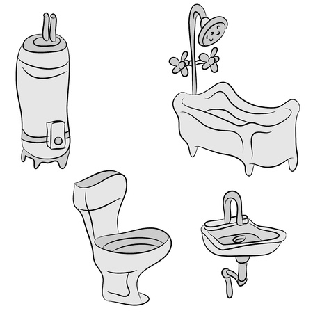 An image of a plumbing objects. Stock Vector - 21678233