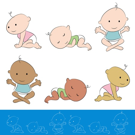 crawling: An image of a baby set.