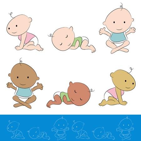 Una imagen de un conjunto bebé. Foto de archivo - 21678235