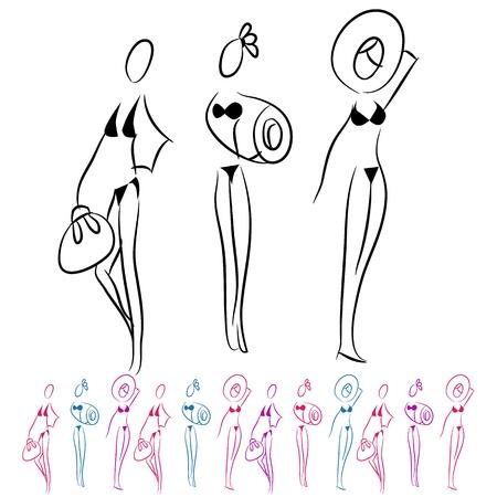An image of a bikini girls.