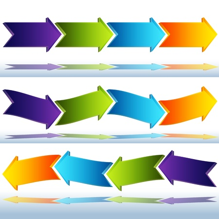 An image of transparent glass arrows.
