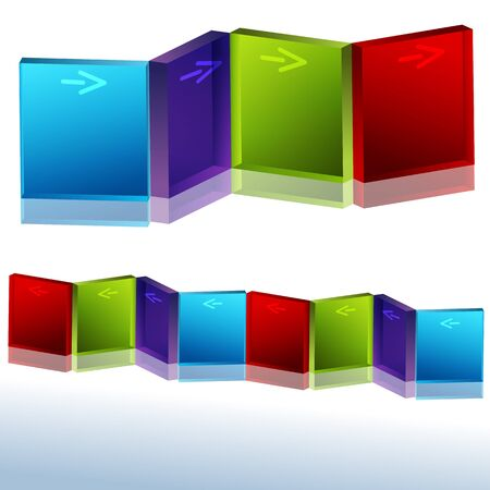 three angled: An image of an angled block 3d chart. Illustration