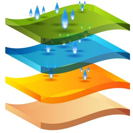 Een afbeelding van een vochtbarrière 3D-grafiek. Stock Illustratie