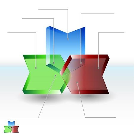 venn: An image of an arrow Venn 3d diagram.