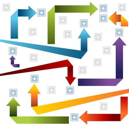An image of an arrow style chart.