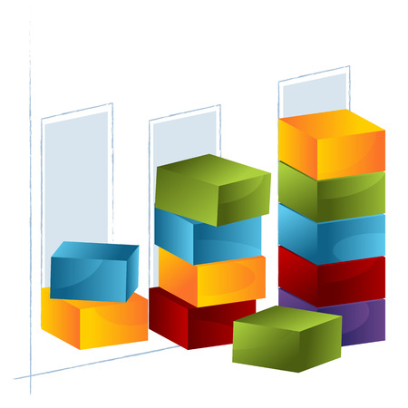stacking: An image of a 3d bar chart.