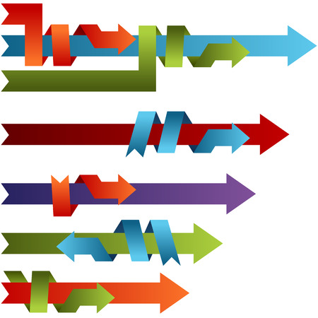 combining: An image of 3d binding process arrows.