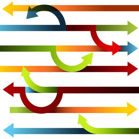shifting: An image of a directional shifting chart. Illustration