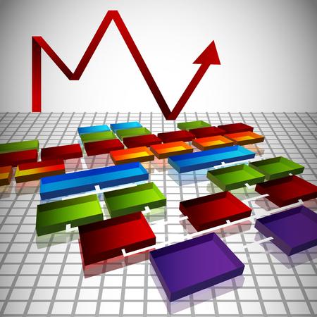 An image of a 3d org chart blueprint. Stock Vector - 22260844