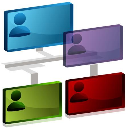 Une image d'une icône de tableau org 3D. Banque d'images - 22566192