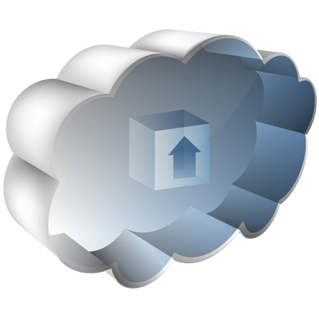 3 d illustrations: An image of a 3D cloud server.