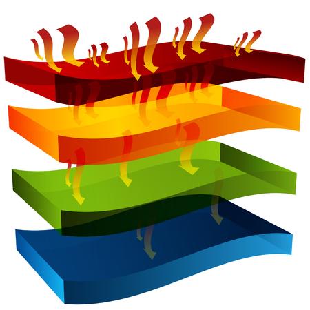retardant: L'immagine di un calore grafico 3D barriera.