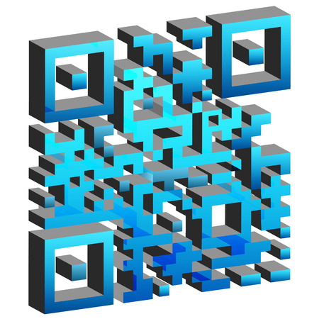 tagging: An image of a 3d mobile tagging code.