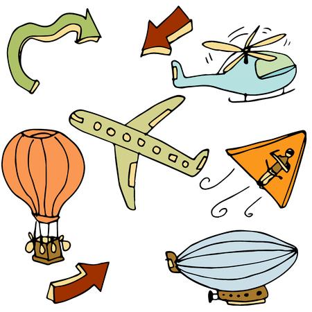 air travel: L'immagine di un oggetto di viaggi aerei. Vettoriali