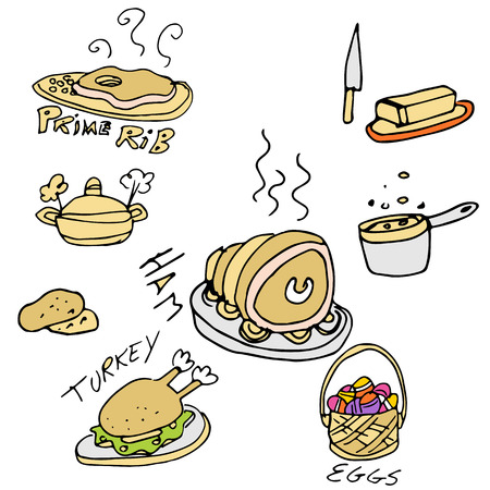 baked potatoes: An image of a holiday foods.