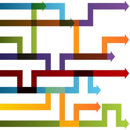 Ein Bild von einer Strategie Anpassung Pfeil-Diagramm. Standard-Bild - 22713176