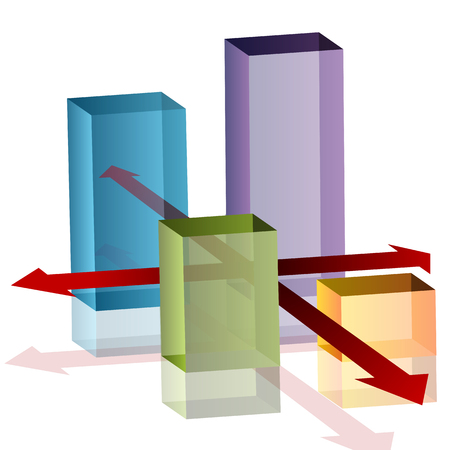 An image of a 3d intersection chart. Vector