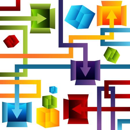 Een afbeelding van een 3d containerbeheer grafiek.