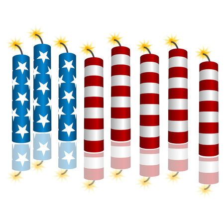 An image of 3d flag firecrackers.