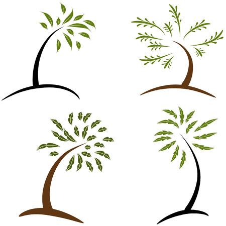 Une image d'arbres simples. Banque d'images - 22868349