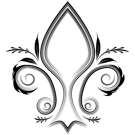 An image of a fleur de lis design element. Vector