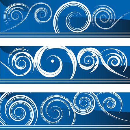 scratchboard: An image of a set of flourish swirl banners.