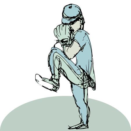 mounds: An image of a baseball pitcher.