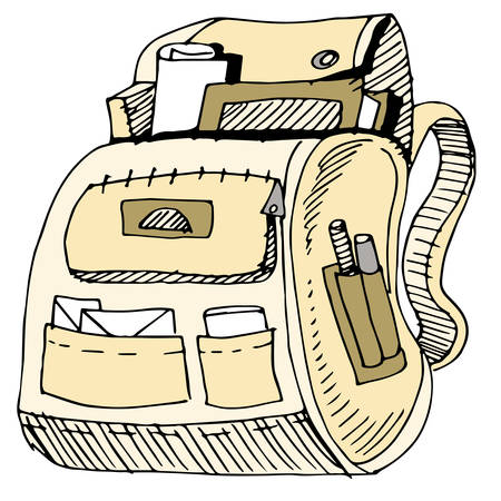 An image of a school backpack. Stock fotó - 22868451