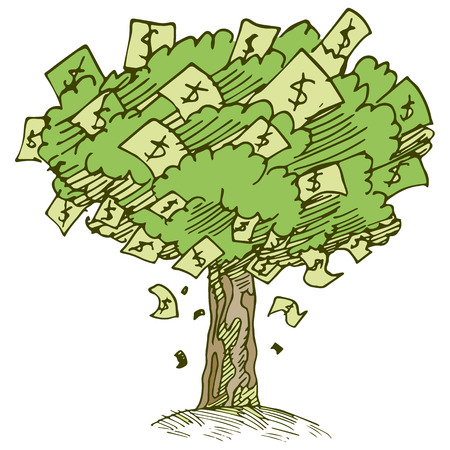 money: An image of a money tree.