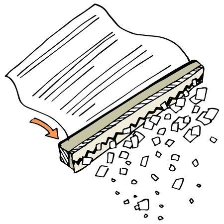 shredder: An image of a paper shredder. Illustration