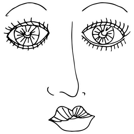 An image of a mascara eyes.