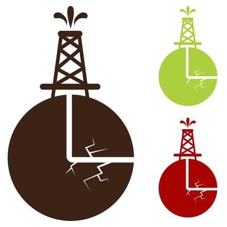 idraulico: L'immagine di una icona di fratturazione idraulica.