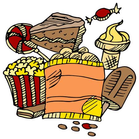 junk: An image of junk food snacks.