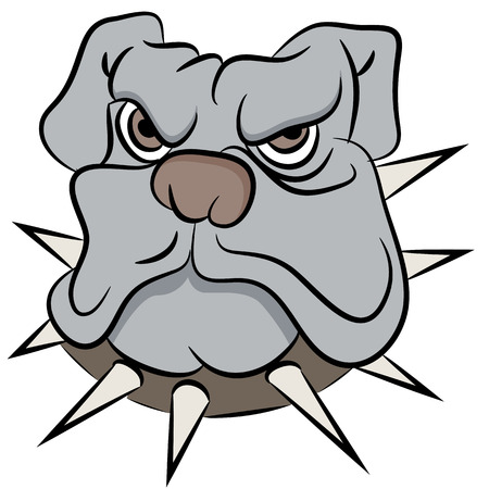 tough: An image of a bull dog face. Illustration
