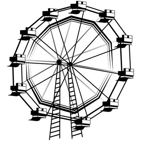 carnival ride: An image of a ferris wheel.