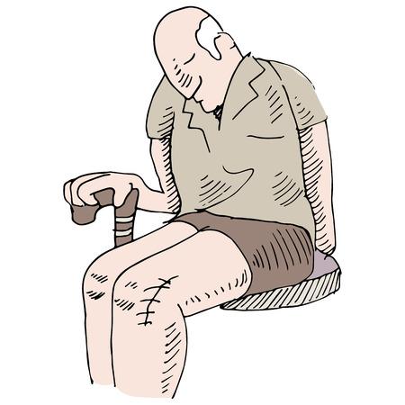 무릎 수술과 남자의 이미지.