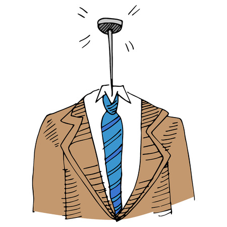 pinhead: An image of a pin headed business man.