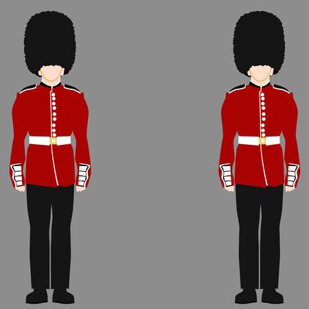 symbol british: An image of a royal british guard.