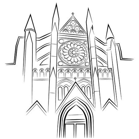 ウェストミン スター寺院のイメージ。  イラスト・ベクター素材
