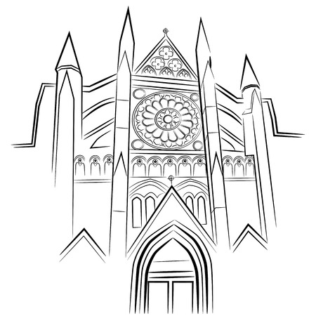 westminster abbey: An image of Westminster Abbey. Illustration