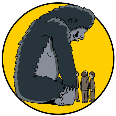 An image of an 800 pound gorilla in the room. Illustration