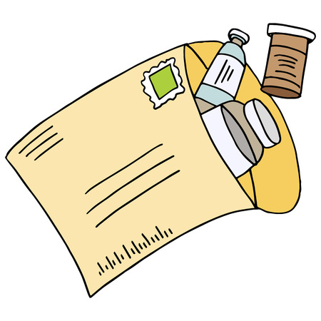 mail order: An image of a mail order medication.