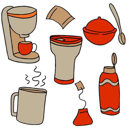 An image of coffee and tea items.
