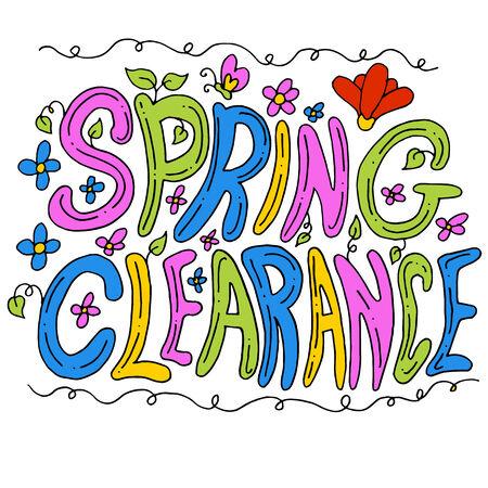 春のクリアランス メッセージのイメージ。