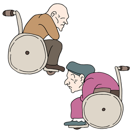 elderly people: An image of disabled elderly people.